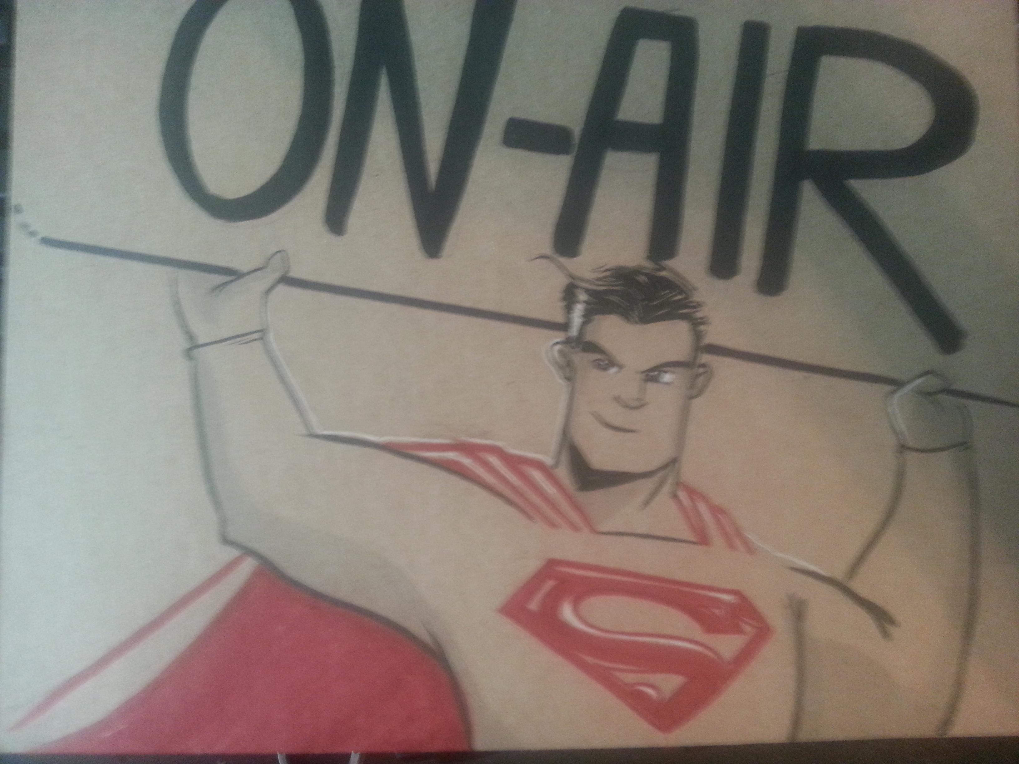 Justin Castaneda's Superman sign